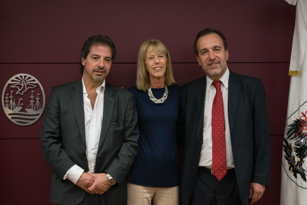 Los consejeros electos, Marcelo Vázquez, Lidia Lago y Darío Reynoso.