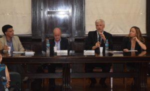 De izquierda a derecha, Sebastián Tedeschi, Hernán Petrelli, Guillermo Scheibler, Natalia Mortier.